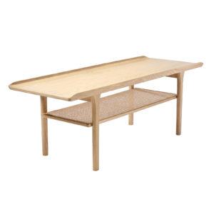 Sofabord no.25 hvidolie med hylde