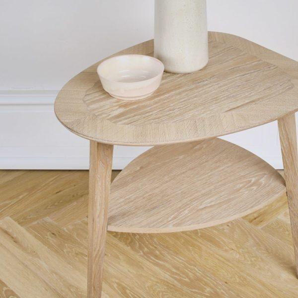 detaljebillede af heart table fra intarsia furniture